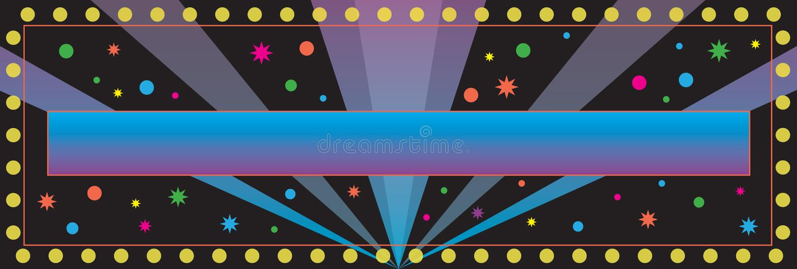 Party Banner Background stock illustration