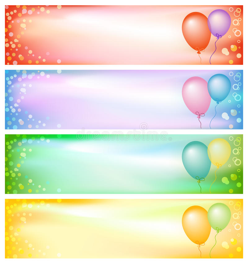 Download Party banners stock vector. Image of beauty, abstract - 13771389