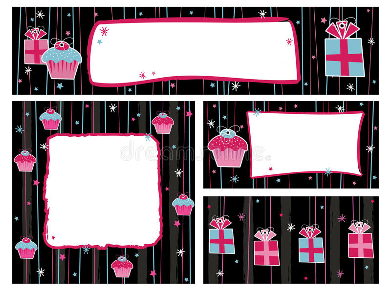 Party banners and frames royalty free illustration