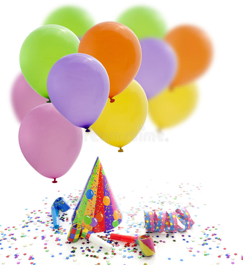 Party birthday new year background stock photos