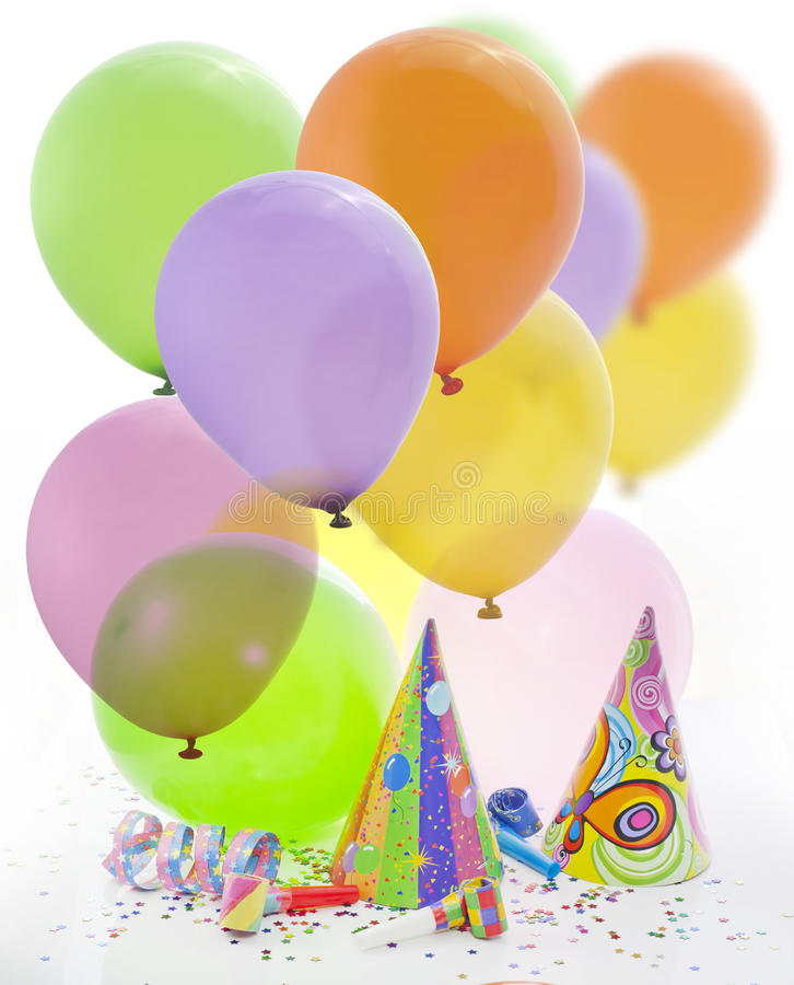 Party birthday new year background. Colorful party birthday new year background with balloons stock photo
