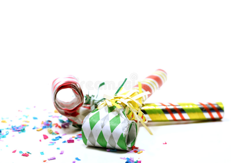 Party Blowers royalty free stock images
