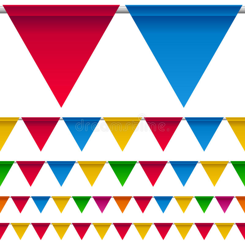 Party Bunting Flags Border stock illustration