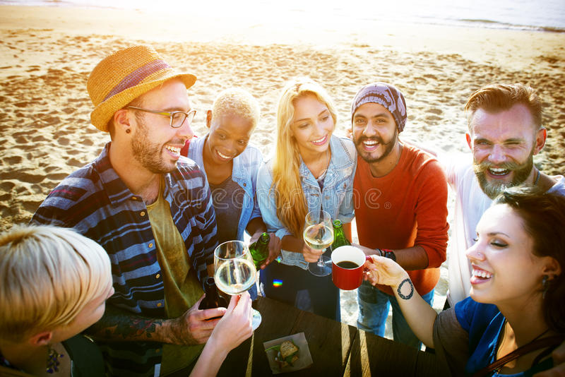 Party Celebrating Celebration Friendship Togetherness Concept stock photo