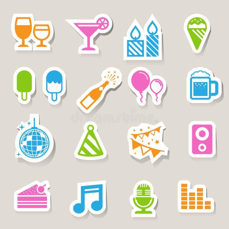Party and Celebration icon set. Illustration eps10 vector illustration