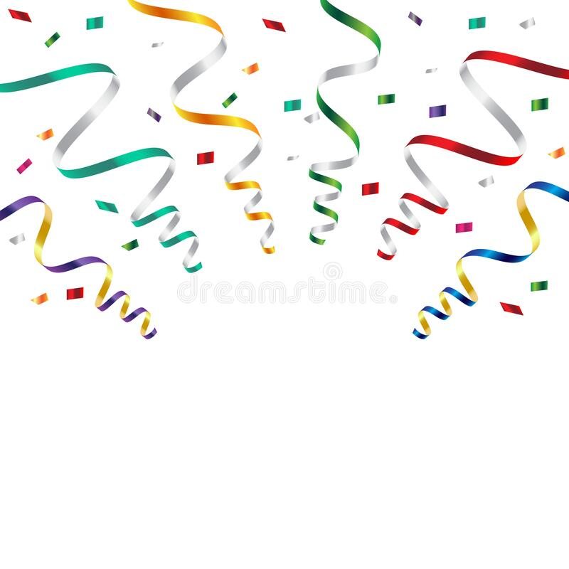 Party Birthday Clip Art - Wish - Transparent Streamer Clipart Picture  Transparent PNG
