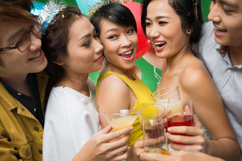 Party. Cheerful young people having fun at the party royalty free stock photos