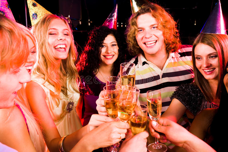 Party cheers royalty free stock photos