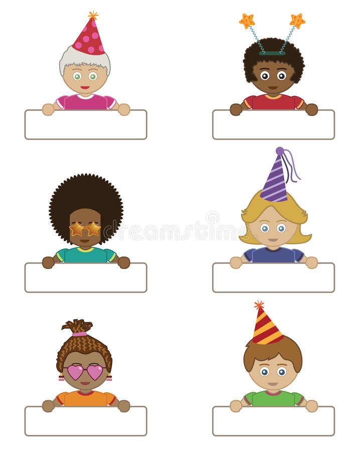 Download Party Children Holding Name Tags Stock Photos - Image: 14439553