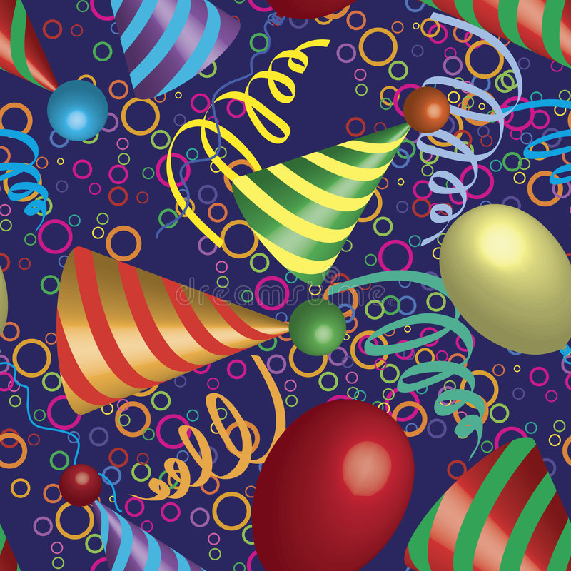 Free Party Christmas Music Birthday Seamless Pattern. Royalty Free Stock Photo - 7420645