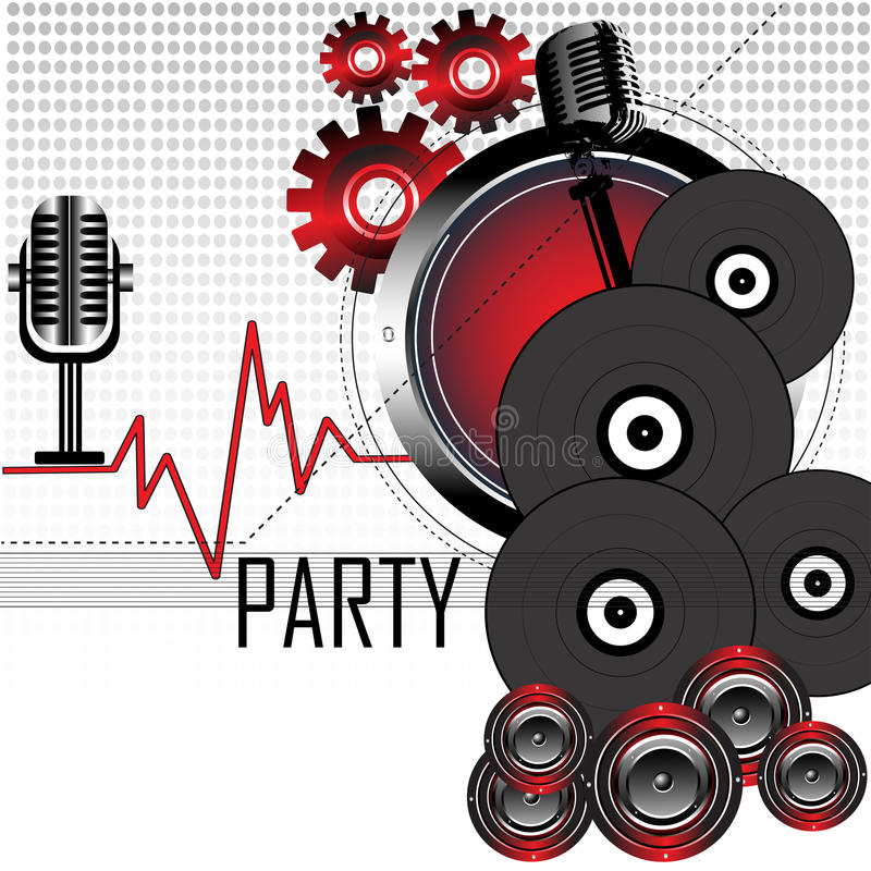 Download Party concept stock vector. Illustration of audio, design - 12828933