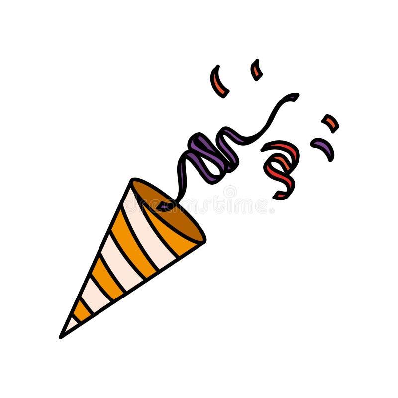 Party cornet with confetti. Vector illustration design vector illustration