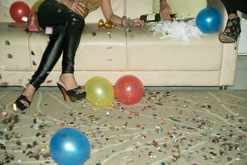 At the party royalty free stock photos