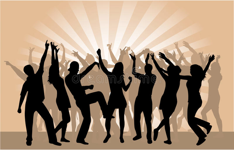 Download Party Crowd 2 stock vector. Image of illustration, friends - 13581743