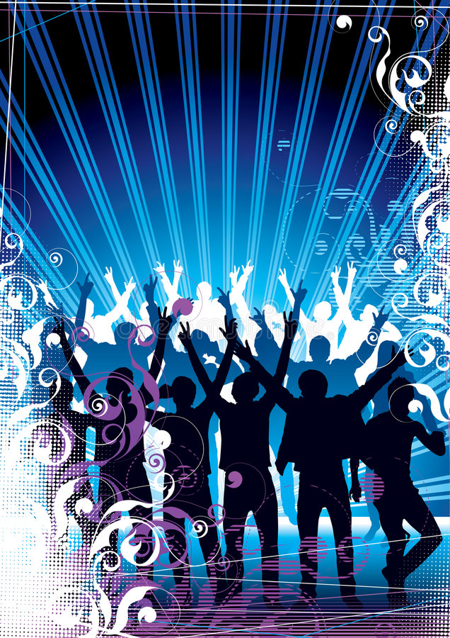 Download Party Crowds stock vector. Illustration of rays, celebration - 6447921