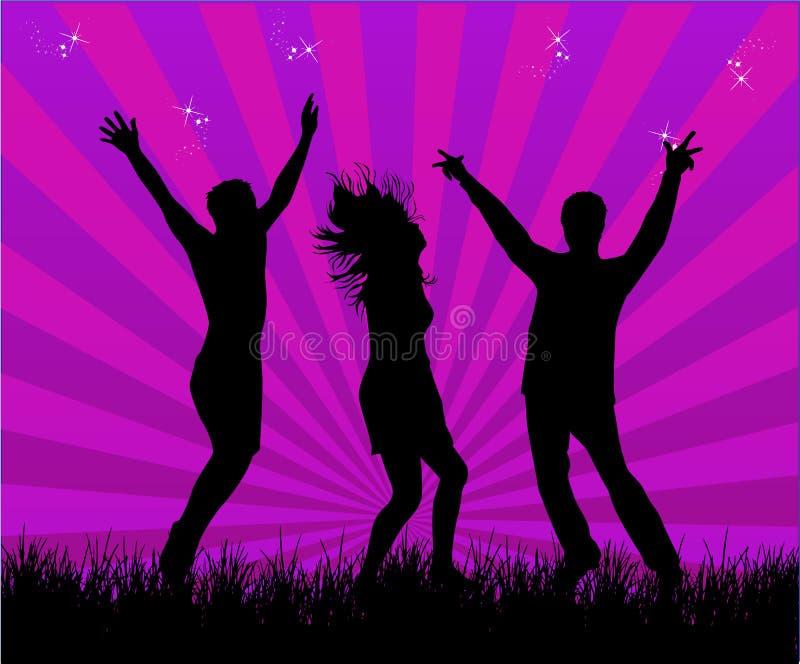 Party dançarinos ilustração do vetor