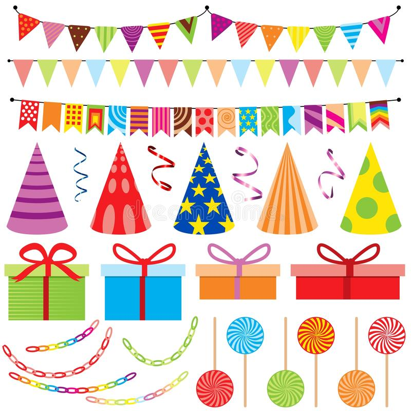 Download Party Decoration stock vector. Image of colored, background - 27175888
