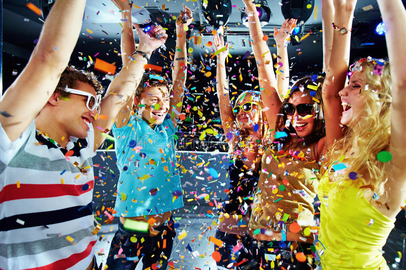 Download Party delight stock image. Image of energy, friendship - 17424315