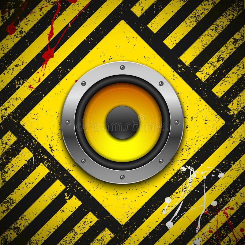 Party design element with speaker stock illustration