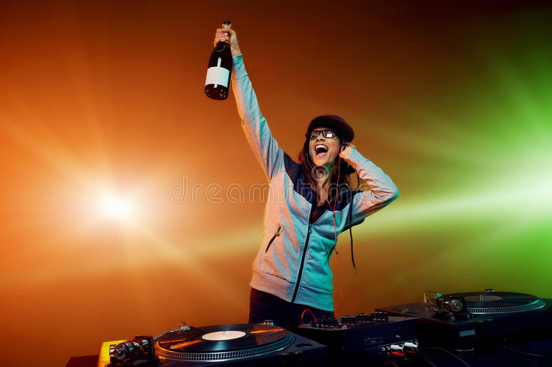 Party DJ royalty free stock photography