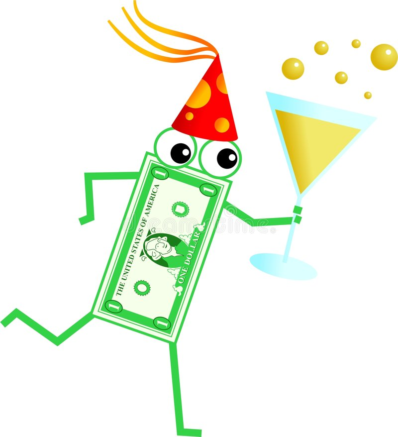 Party dollar vector illustration