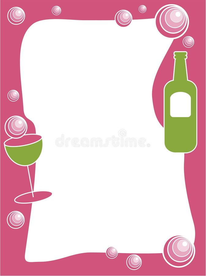 Party Drinks Border Stock Photography - Image: 68082