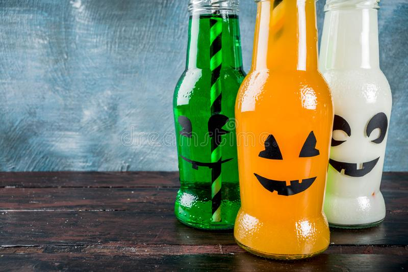 Party drinks for Halloween royalty free stock photos