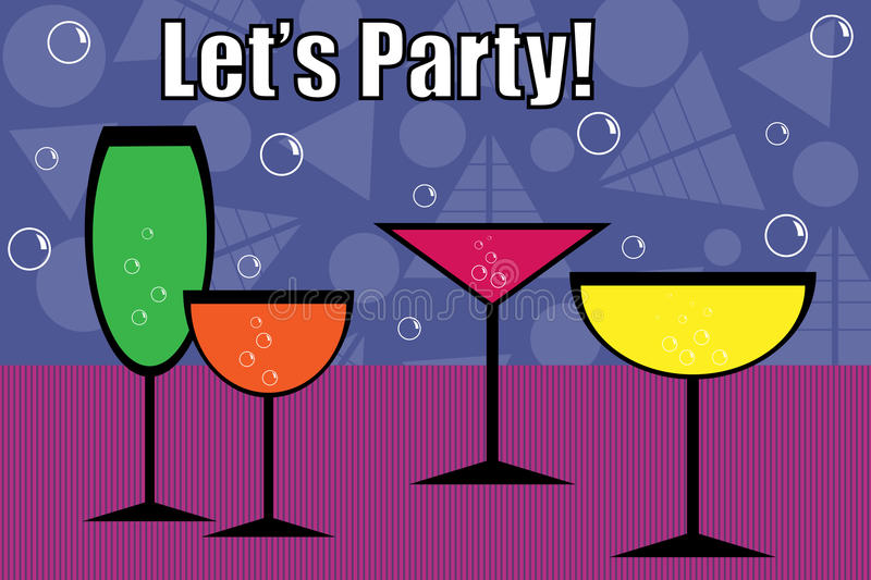 Party drinks - vector royalty free stock photos