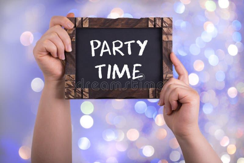Party el tiempo fotos de archivo libres de regalías