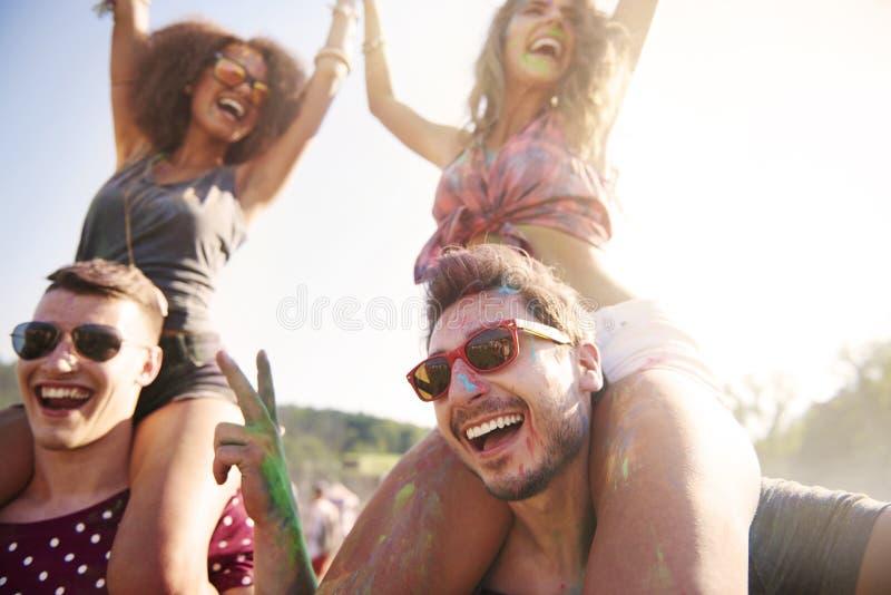 Party el tiempo imagen de archivo