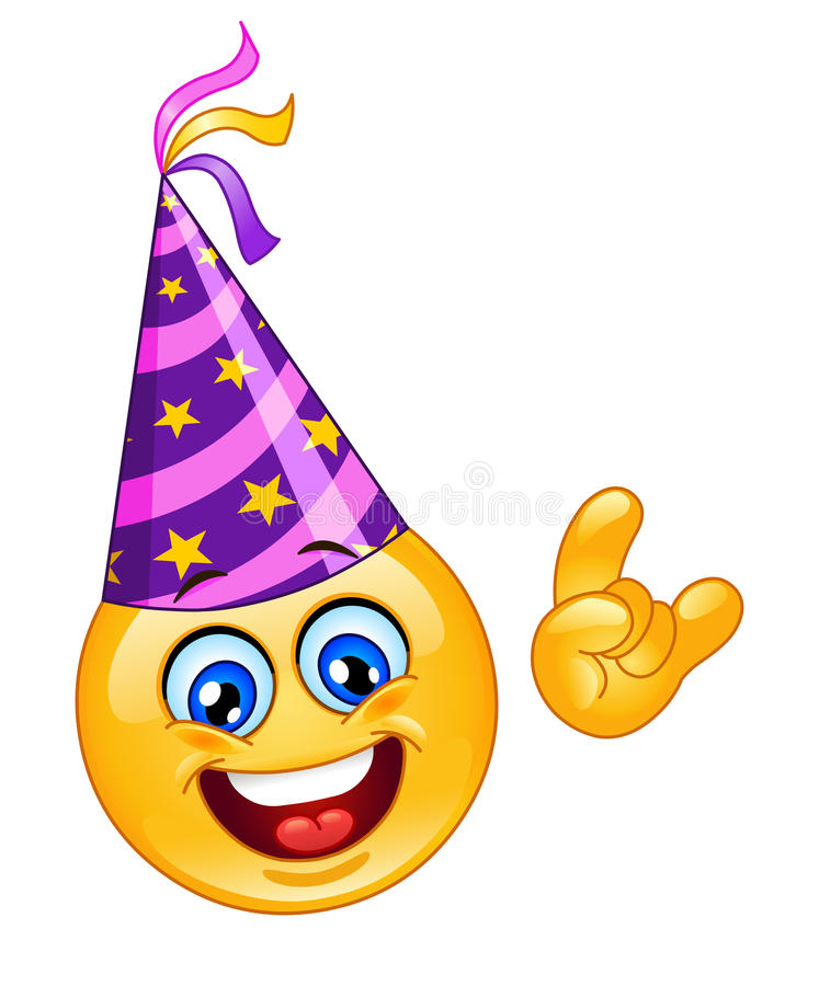 Party Emoticon stock abbildung