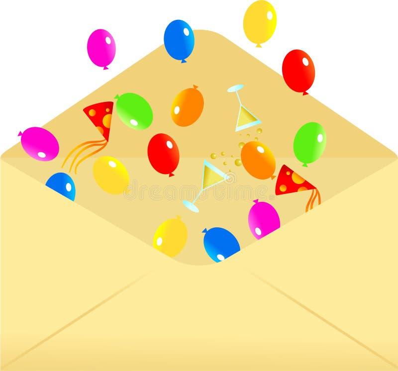 Party envelope royalty free illustration