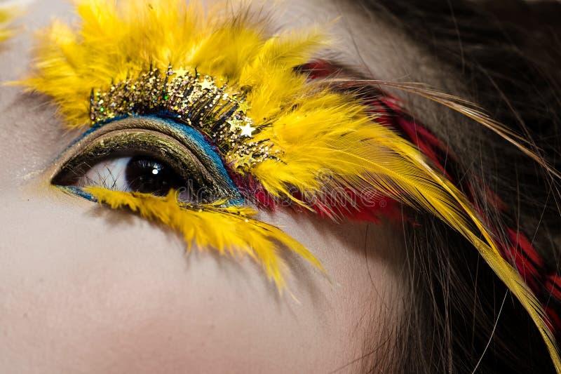 Party eye macro. Macro shot of a party eye royalty free stock images
