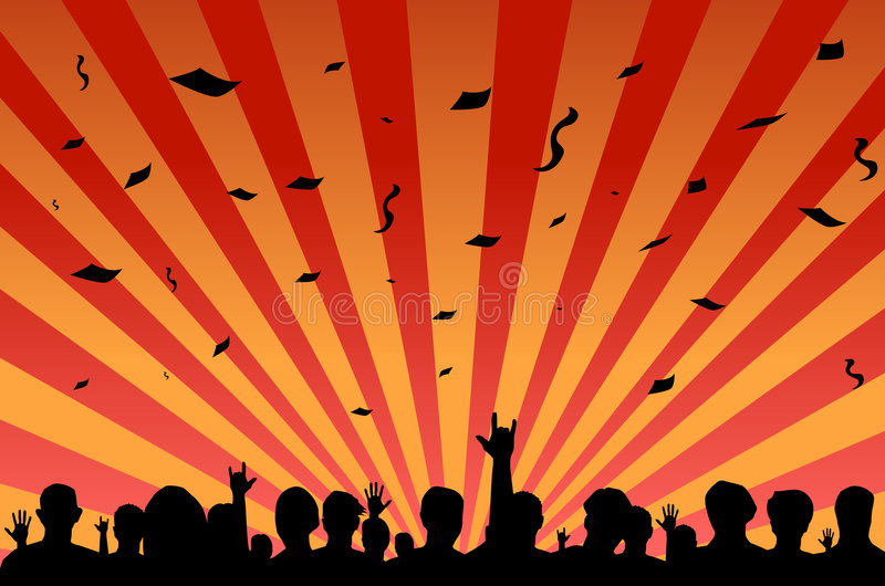 Download Party festival crowd stock vector. Image of black, concert - 6983438