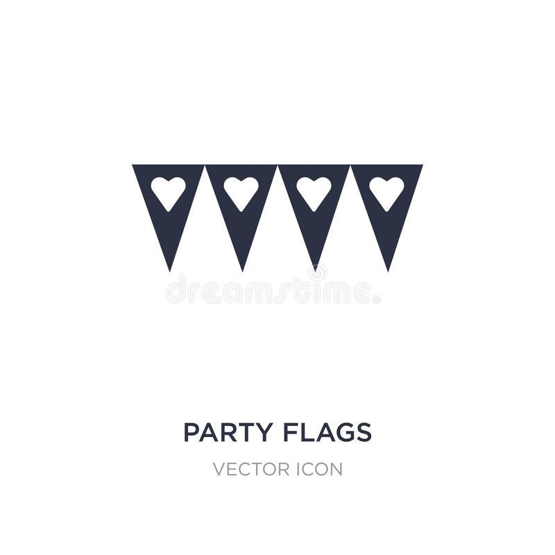 Party flags icon on white background. Simple element illustration from Party concept. Party flags sign icon symbol design stock illustration