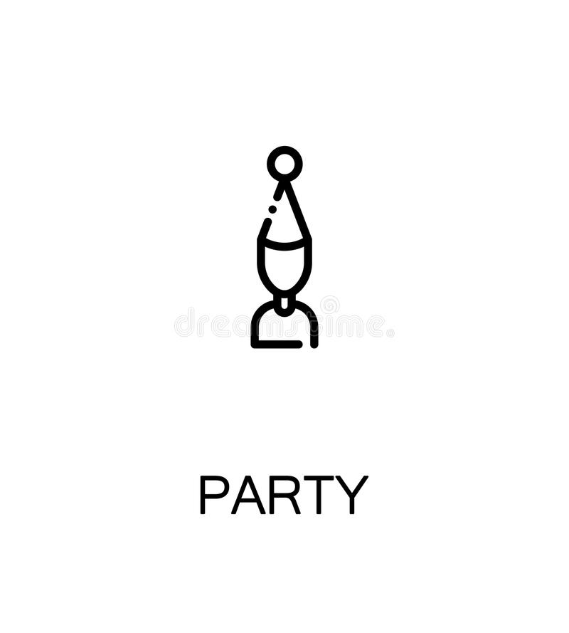 Party flat icon. Party icon. Party single high quality outline symbol for web design or mobile app. Thin line sign for design logo. Black outline pictogram on stock illustration