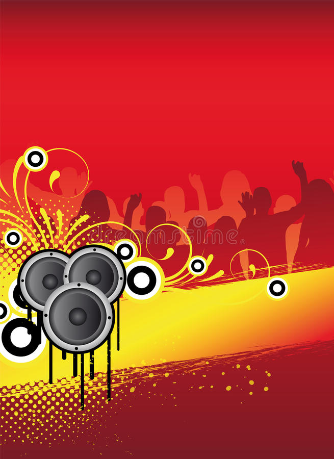 Party flyer vector illustration