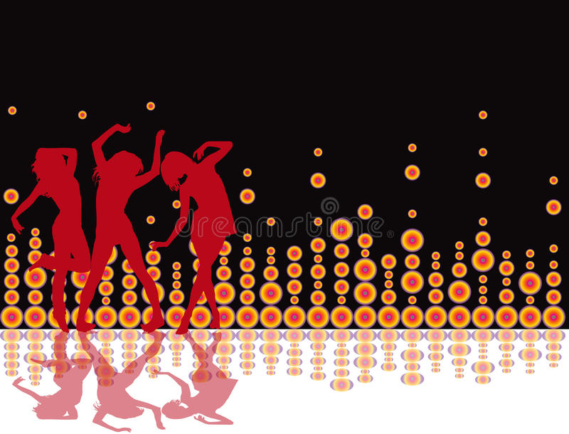 Party Flyer background Illustration retro Disco stock illustration