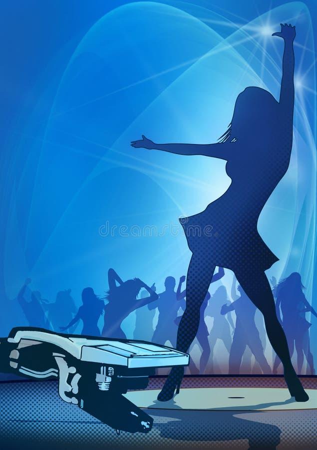 Party Flyer Blue stock illustration