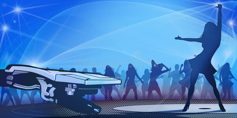 Party Flyer Blue vector illustration