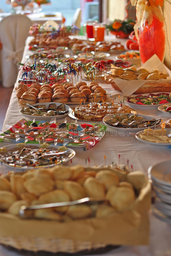 Party food. Food prepared for my nephew's birthday party royalty free stock images