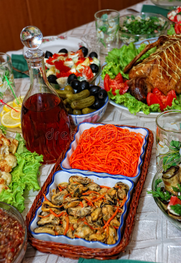 Party food stock photo