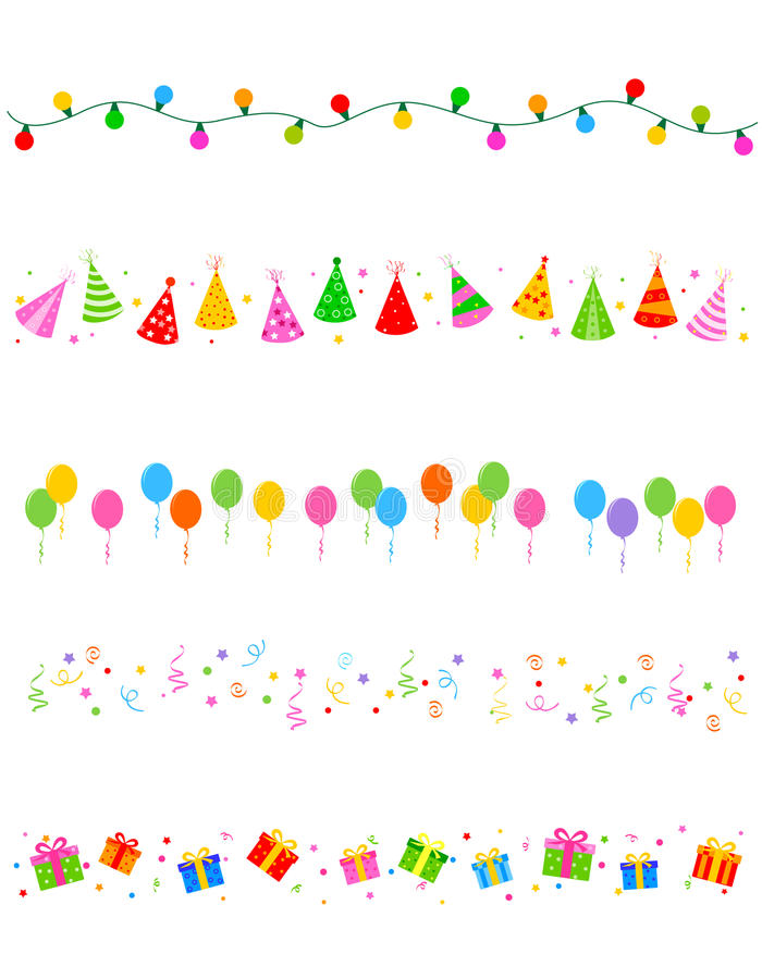 Party frame / border royalty free stock images