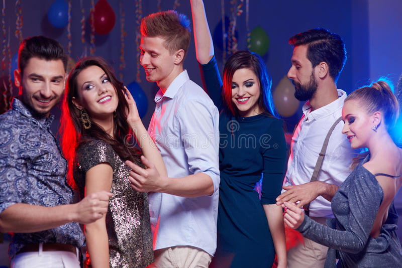 Party with friends. Sharing the best things in life stock photos