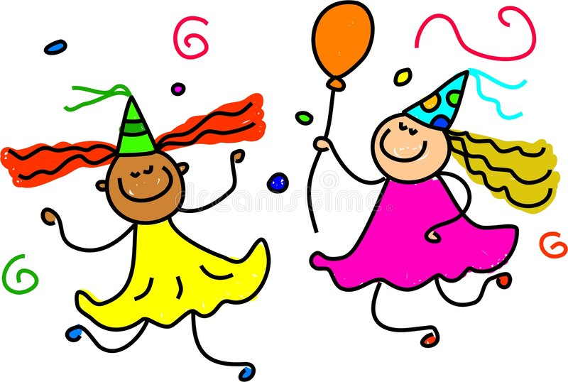 Download Party fun stock vector. Image of girls, diversity, birthday - 1045975