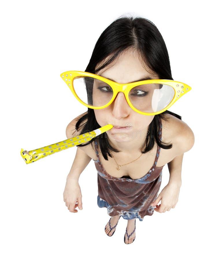 Party girl imagem de stock royalty free