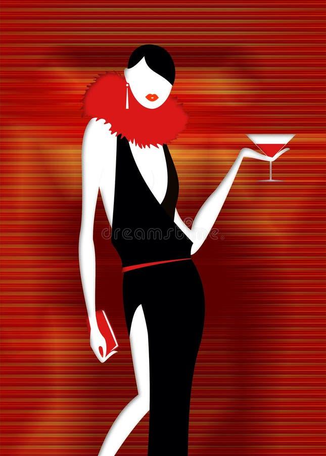 Party girl stock illustration