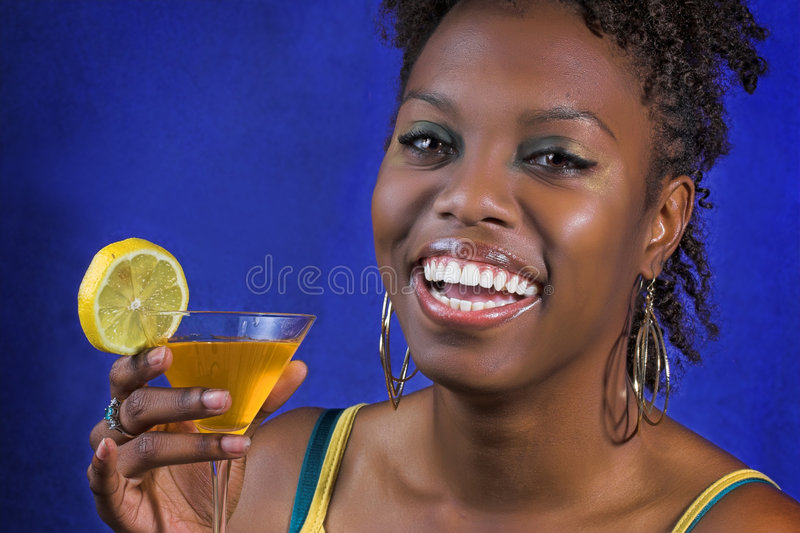 Download Party girl stock photo. Image of african, cocktail, laughing - 3364022