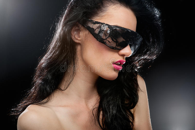 Party girl in club glasses royalty free stock photos