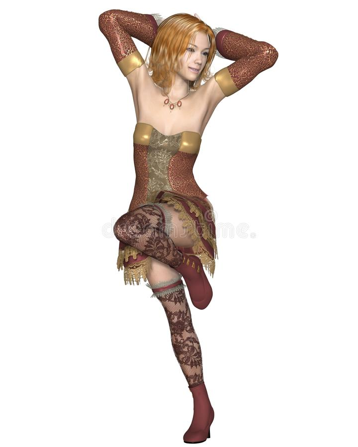 - Party girl de cabelo - 2 dourados ilustração royalty free